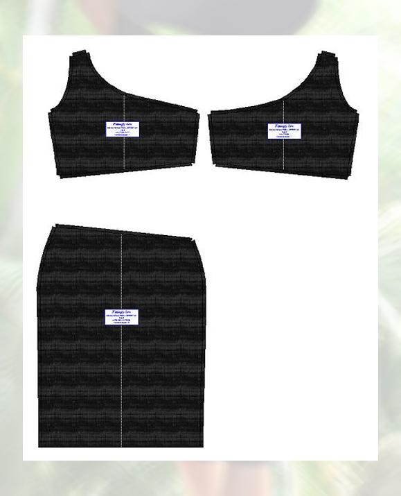 Pièces du patronage en qualité de tissu jersey